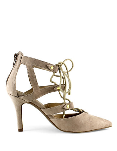 G By Guess Krona Lace-Up Pumps-SAND-7.5