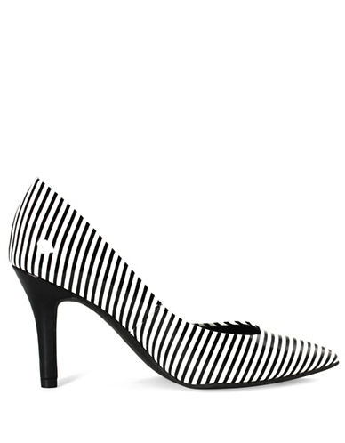 G By Guess Kally Patent Pumps-WHITE/BLACK-9.5