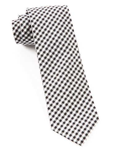 The Tie Bar Novel Gingham Tie-BLACK-One Size