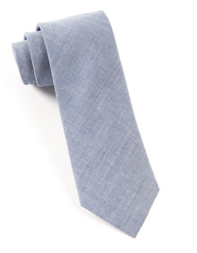 The Tie Bar Classic Chambray Tie-BLUE-One Size