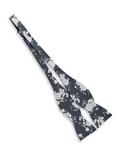 The Tie Bar Self-Tie Hinterland Silk Bow Tie-BLACK-One Size