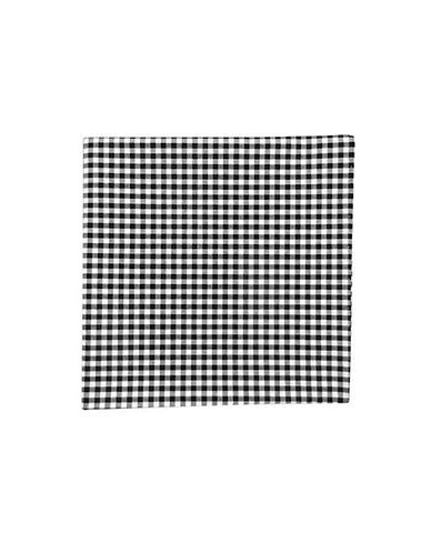 The Tie Bar Novel Gingham Pocket Square-BLACK-One Size