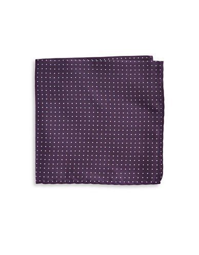 The Tie Bar Polka Dot Silk Pocket Square-PURPLE-One Size