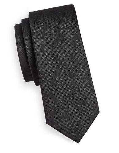 The Tie Bar Refinao Floral Silk Tie-BLACK-One Size