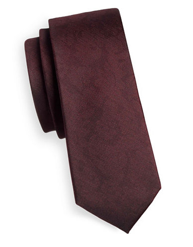 The Tie Bar Refinao Floral Silk Tie-RED-One Size