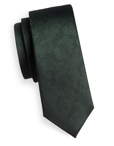 The Tie Bar Refinao Floral Silk Tie-GREEN-One Size