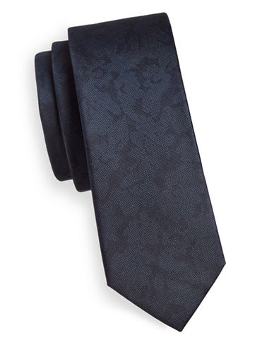 The Tie Bar Refinao Floral Silk Tie-NAVY-One Size