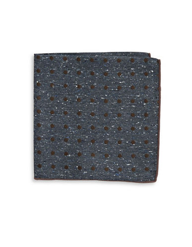 The Tie Bar Silk Dots Pocket Square-SERENE BLUE-One Size