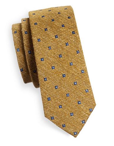 The Tie Bar Floral Medallion Silk Tie-GOLD-One Size