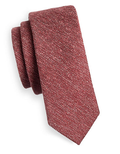 The Tie Bar Patterned Silk Tie-PINK-One Size