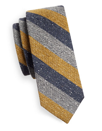The Tie Bar Wool Textured Silk Tie-GOLD-One Size