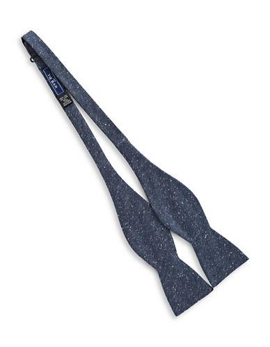 The Tie Bar Self-Tie Zigzag Silk Bow Tie-NAVY-One Size