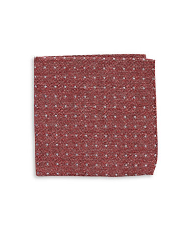 The Tie Bar Polka Dot Silk Pocket Square-PINK-One Size