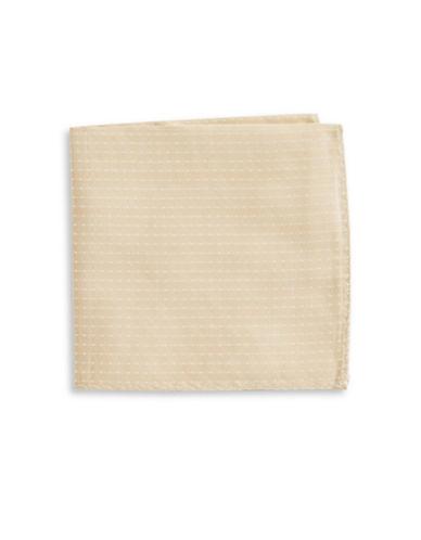 The Tie Bar Polka Dot Silk Pocket Square-BEIGE-One Size