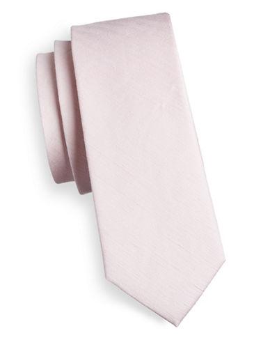 The Tie Bar Linen-Silk Tie-PINK-One Size
