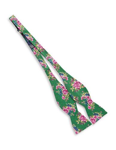 The Tie Bar Self-Tie Hinterland Silk Bow Tie-GREEN-One Size