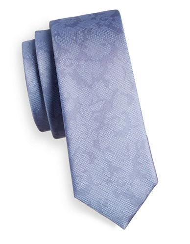 The Tie Bar Floral Jacquard Silk Tie-BLUE-One Size