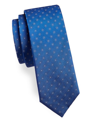 The Tie Bar Sparkler Medal Silk Tie-ROYAL BLUE-One Size