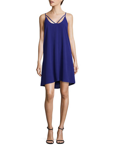 Wayf Morgan T-Strap Swing Dress-ROYAL-X-Small