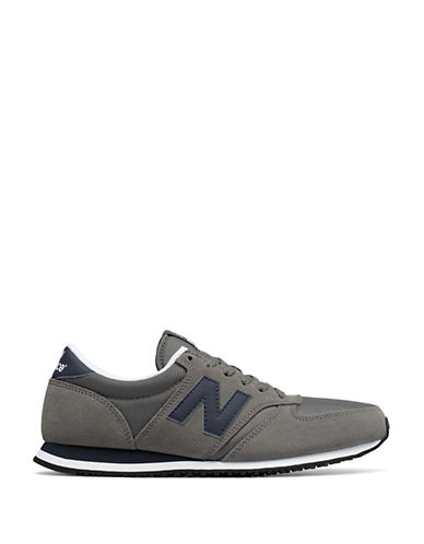 New Balance 420 Suede Sneakers-GREY-9.5