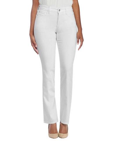 Nydj Petite Marilyn Straight Jeans-WHITE-Petite 10
