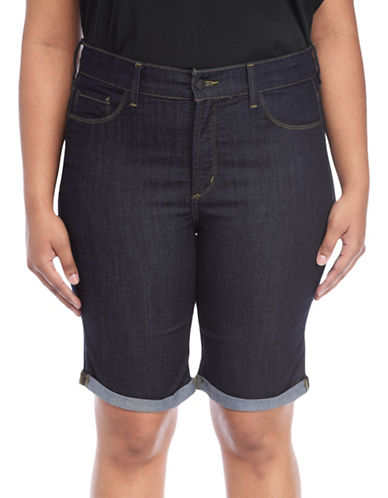 Nydj Plus Plus Briella Roll Cuff Shorts-DENIM BLUE-22W