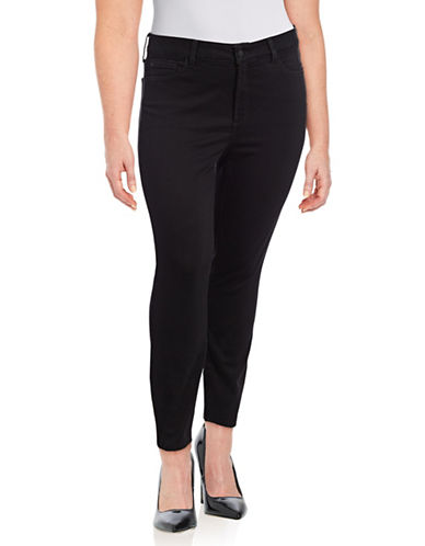 Nydj Plus Alina Ankle Pants-BLACK-14W