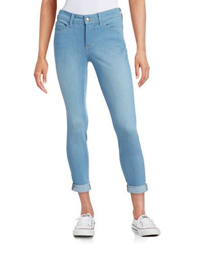 Nydj Skinny Boyfriend Jeans-BLUE-Petite 8 plus size,  plus size fashion plus size appare