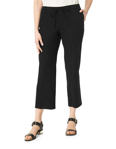 Nydj Jamie Relaxed Ankle Drawstring Jeans-BLACK-2
