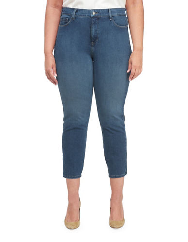 Nydj Plus Plus Ira Relaxed In Shape 360 Ankle Jeans-BLUE-22W