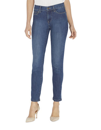 Nydj Clarissa Skinny Moisture-Wicking Ankle Jeans-BLUE-0