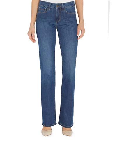 Nydj Barbara Bootcut Jeans-BLUE-Petite 0