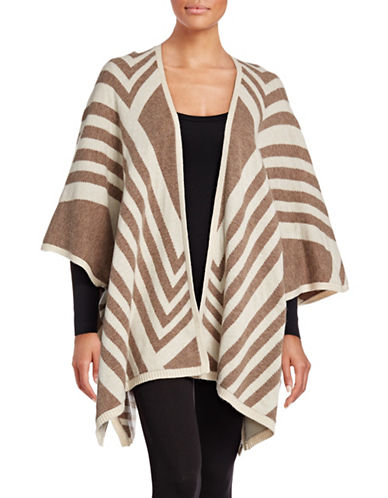 Nydj Stripe-Jacquard Cape-BROWN-X-Small/Small