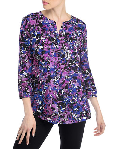 Nydj Pleat Back-Blouse-WILD ORCHID-X-Small