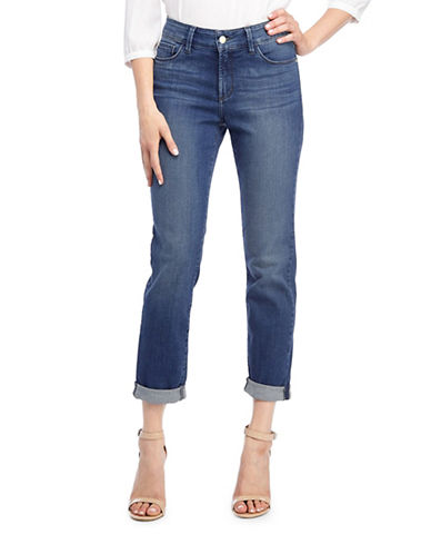 Nydj Jessica Relaxed Boyfriend Jeans-BLUE-Petite 0 plus size,  plus size fashion plus size appare