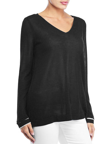 Nydj Two-Fer Sweater-BLACK-X-Small