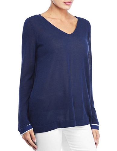 Nydj Two-Fer Sweater-BLUE-Small