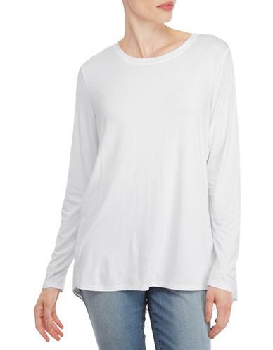 Nydj Mixed Drape Back Top-WHITE-X-Small