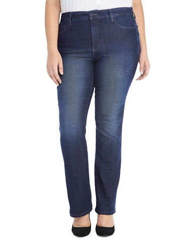 Nydj Plus Barbara Bootcut Jeans-BLUE-14W