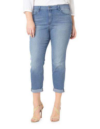 Nydj Plus Plus Jessica Relaxed Boyfriend Jeans-BLUE-22W