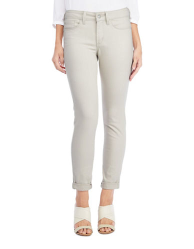 Nydj Alina Convertible Ankle Jeans-BEIGE-0
