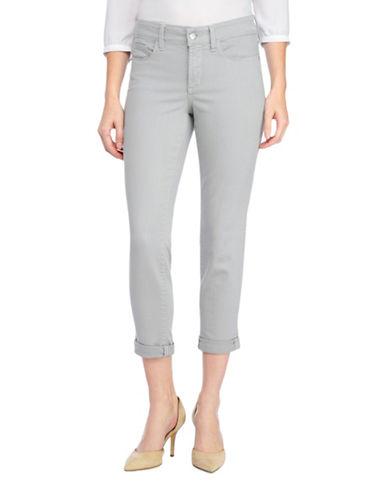 Nydj Petite Wide Cuff Ankle Capri Jeans-MOONSTONE-Petite 8