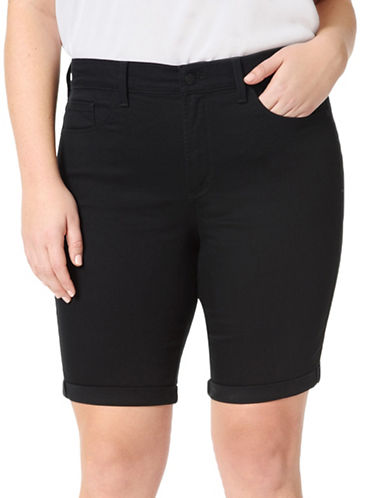 Nydj Plus Plus Briella Shorts-BLACK-22W