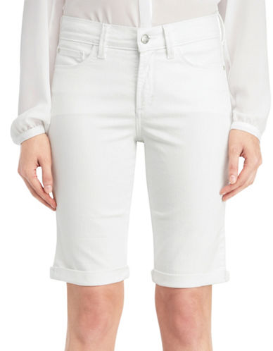 Nydj Plus Plus Briella Shorts-WHITE-20W