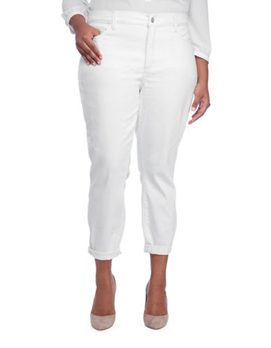 Nydj Plus Alina Convertible Rolled Hem Jeans-WHITE-20W