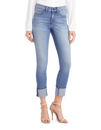 Nydj Alina Wide Cuff Ankle Jeans-BLUE-4