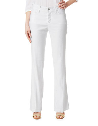 Nydj Wylie Flared Cuff Trousers-WHITE-10