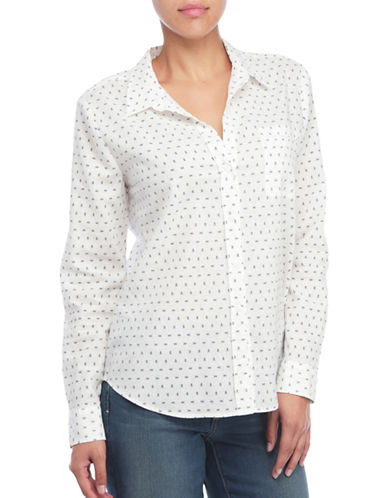 Nydj Linen Blend Shirt-WHITE-Large