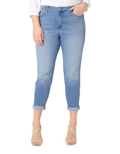 Nydj Plus Plus Alina Convertible Ankle Jeans-BLUE-22W