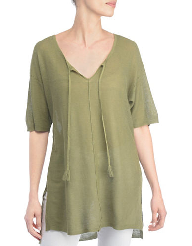 Nydj Afia Mesh Hi-Lo Tunic-GREEN-Small